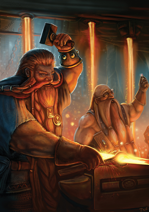 fantasy-art-dwarf-dwarven-smith-blacksmith-forge-beards-orange