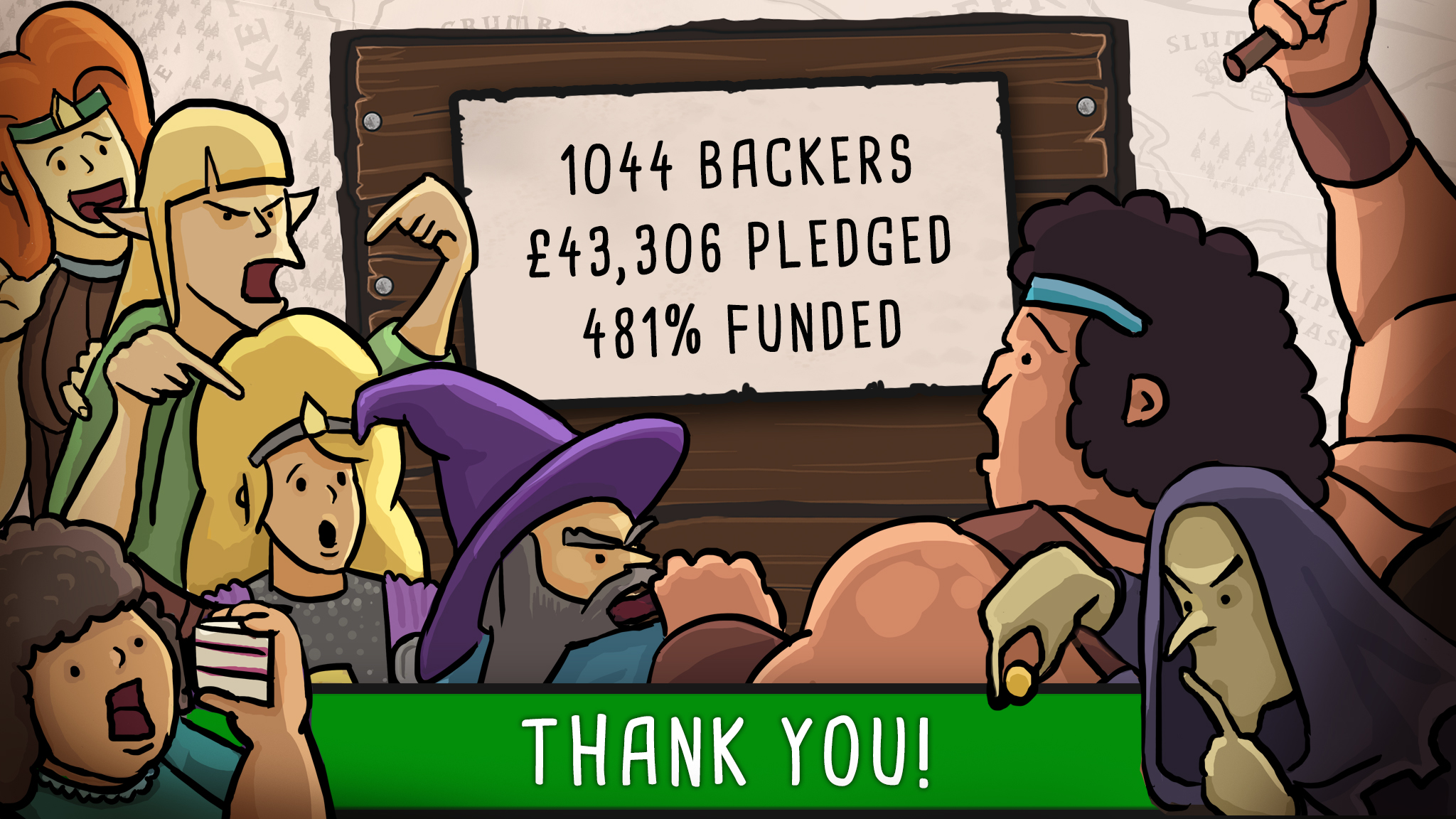 Hero Master: An Epic Game of Epic Fails Kickstarter funding stats
