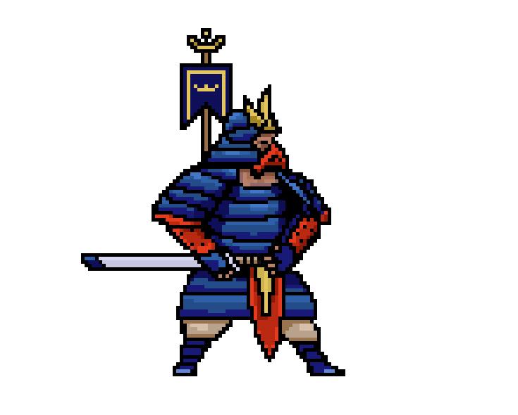 pixel art samurai game art pixel artist