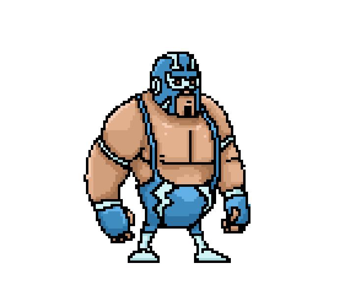 pixel art luchador wrestler lucha libre artist game artist