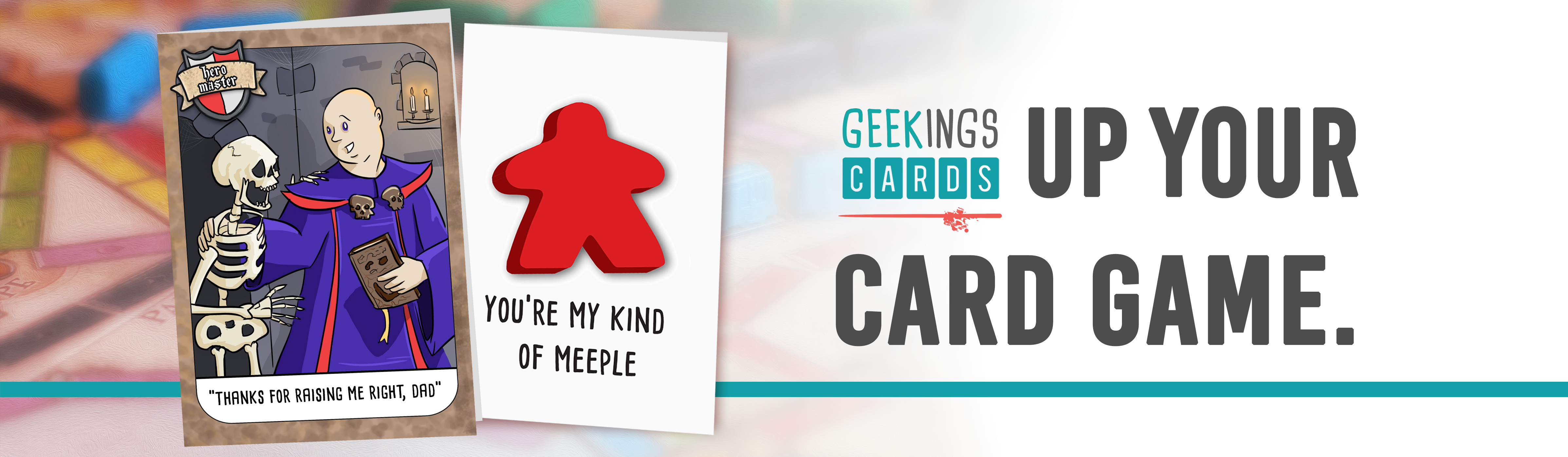 geekings cards, birthday cards for board gamers, geeks and roleplay gamers
