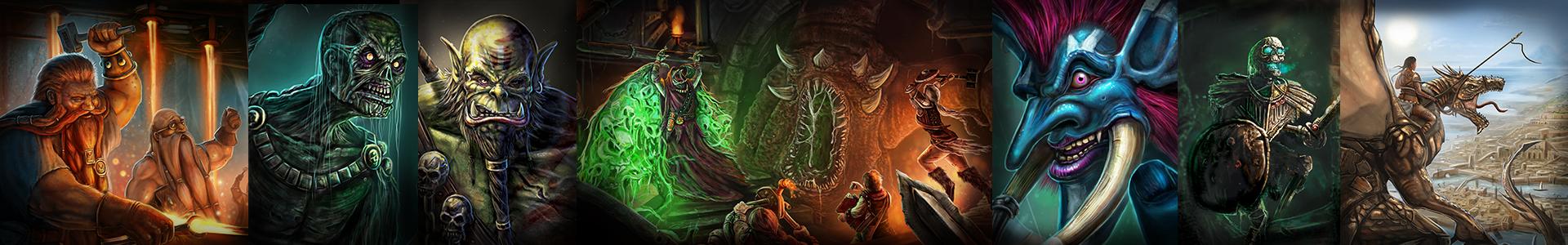 fantasy art banner of work from The Noble Artist