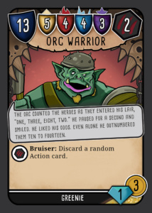Orc Warrior card, funny