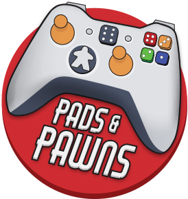 gaming logo for pads and pawns, by The Noble Artist