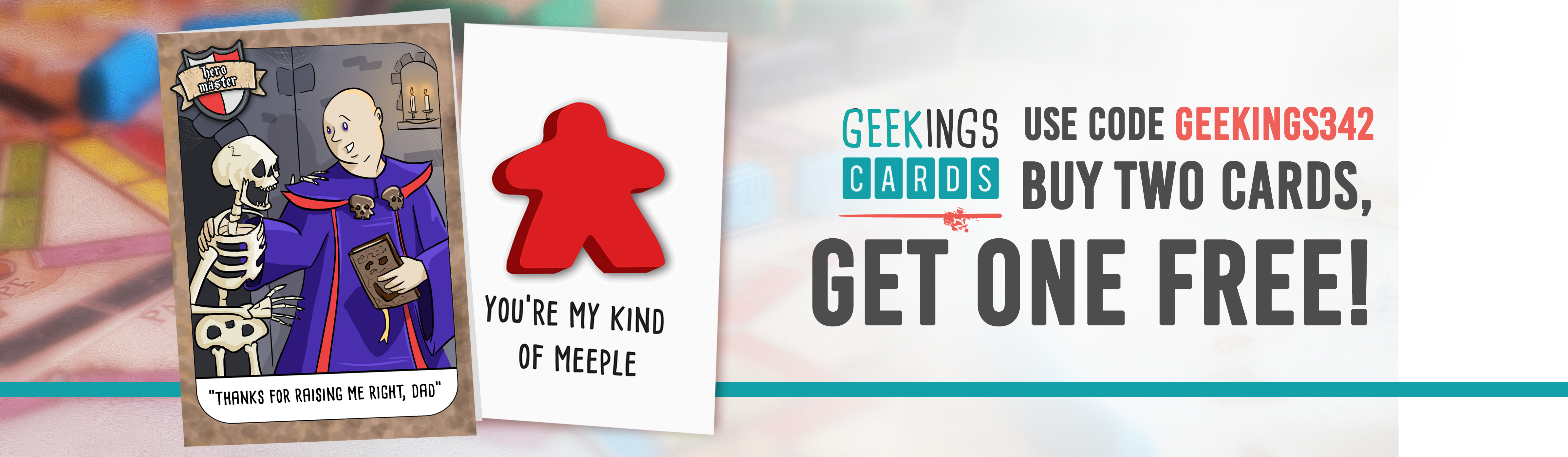 geekings card buy two get one free banner