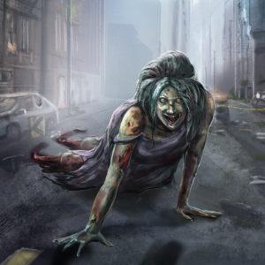 Crawler Zombie art, The Noble Artist