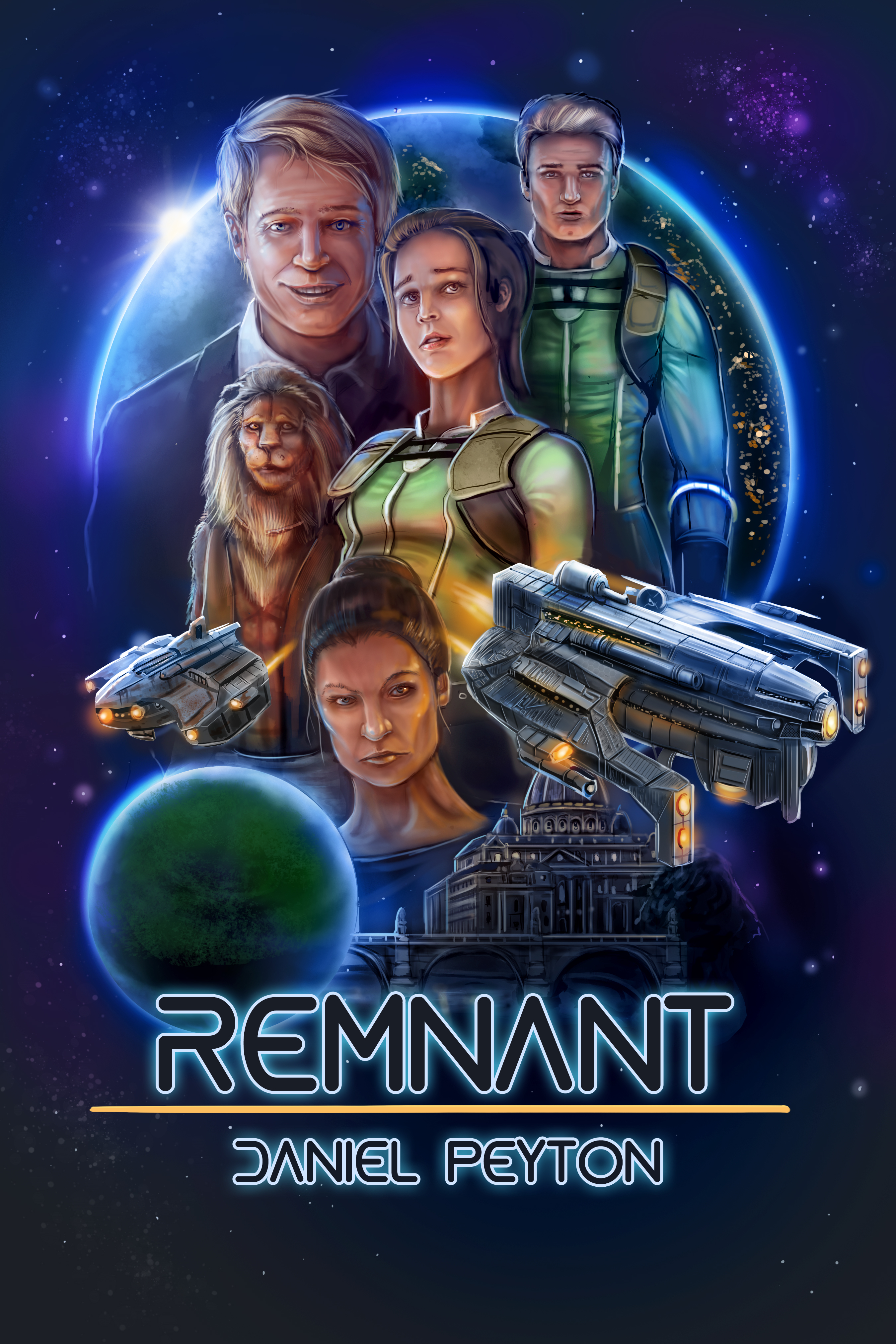 sci-fi cover art. Book cover by The Noble Artist for Remnant by Daniel Peyton