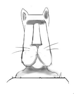 moai cat sketch