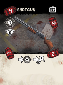 shotgun illustration, zombie weapons