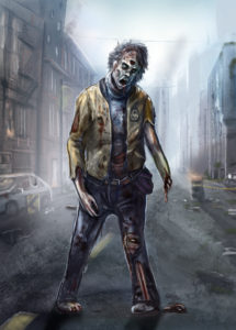 Shuffling Zombie Art, by The Noble Artist